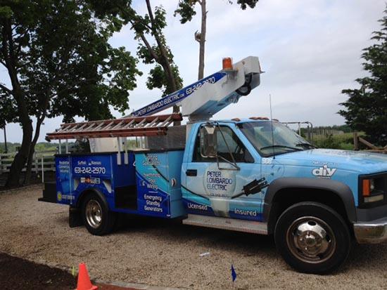 long island electrician boom truck